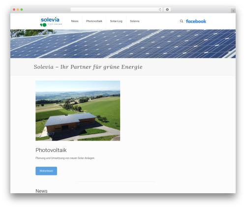 WordPress website template Betheme - solevia.ch
