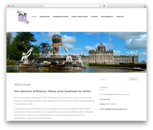 Activello free WP theme - jopcommunications.com
