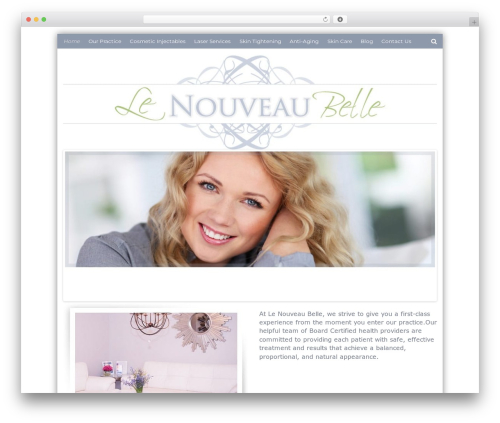Flat Responsive Child WordPress theme - lenouveaubelle.com