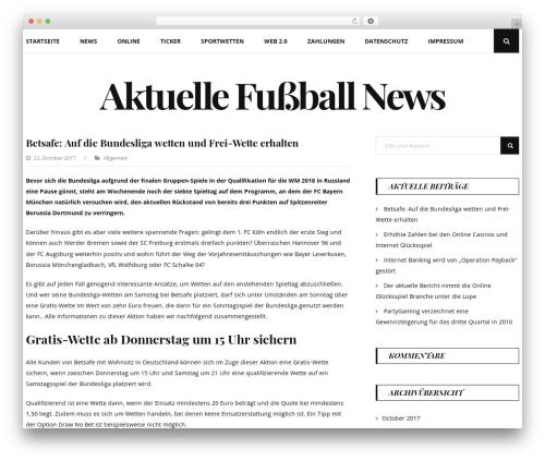 Floral Lite WordPress theme design - tura-fussball.de