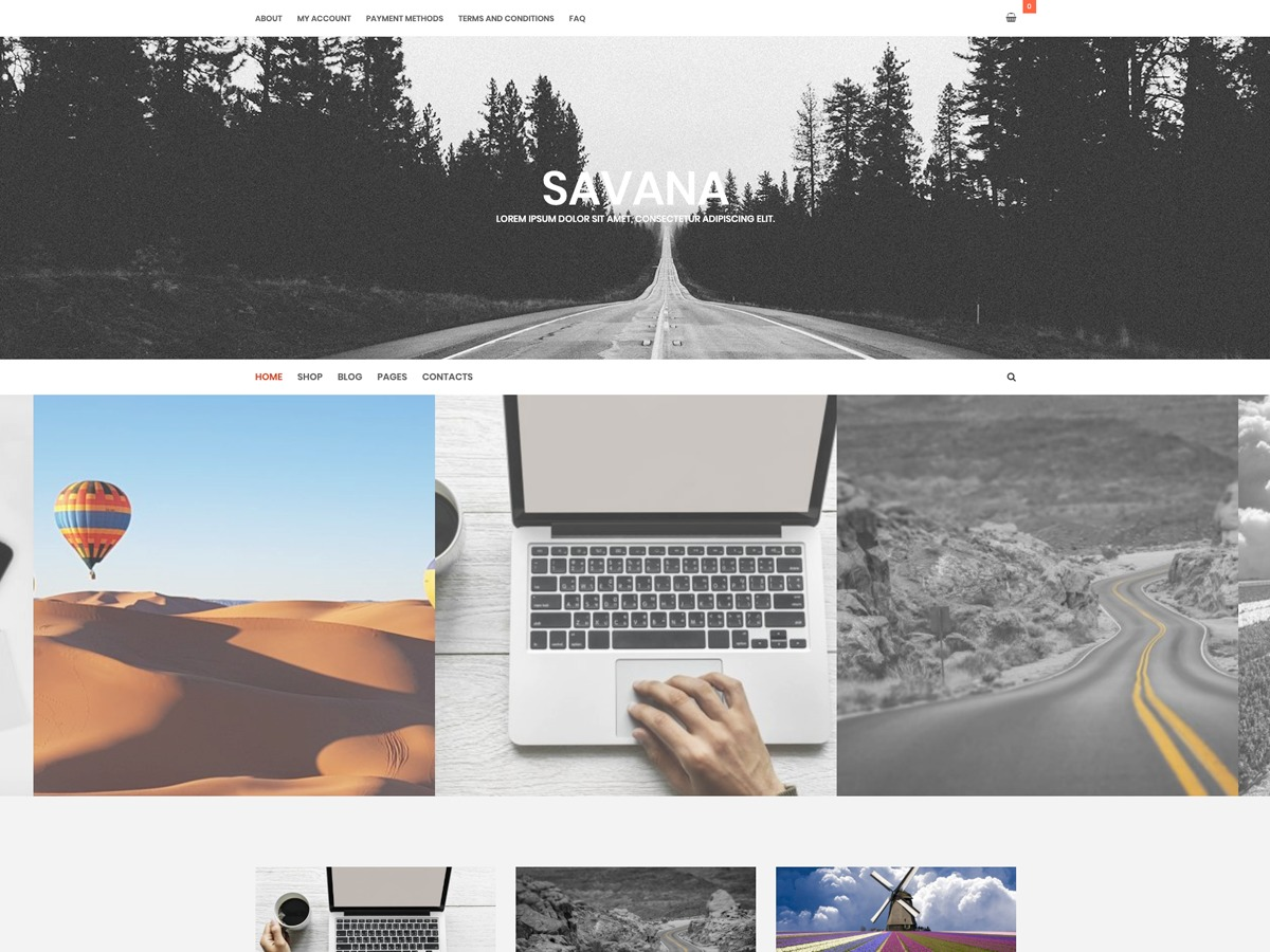 Savana Lite photography WordPress theme