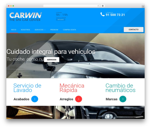 autorepair theme WordPress - carwincenter.com