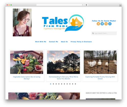 Brigsby Premium WordPress blog theme - talesfromhome.com