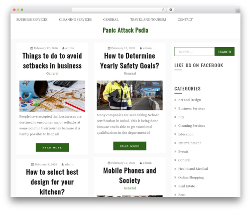 Gist WordPress template - panicattackpedia.com