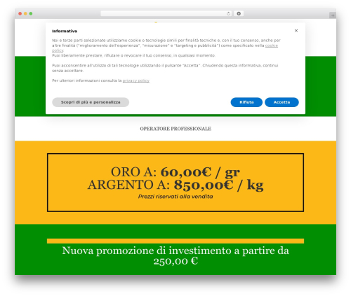 Theme WordPress Divi - banco-metalli.com