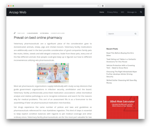 Deoblog Lite best WordPress theme - anzapweb.com