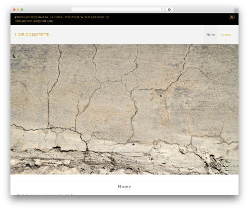 Di Responsive WordPress template - liebconcrete.com