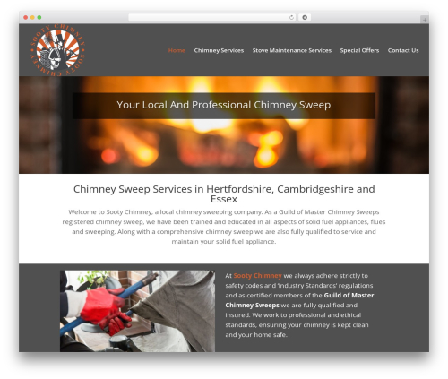 Divi theme WordPress - sootychimney.com