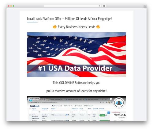 Socrates v5 WordPress page template - prospectsleads.com