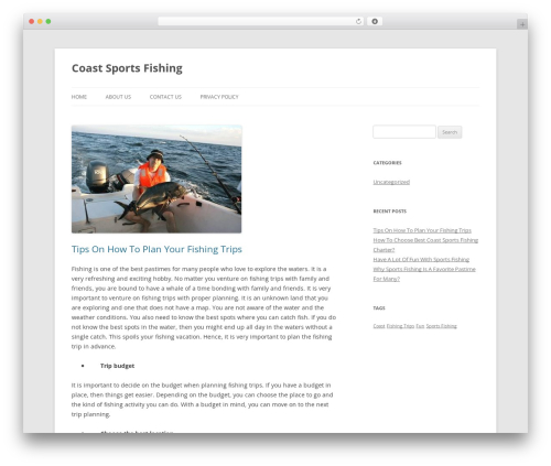 Twenty Twelve free WordPress theme - centralcoastsportfishing.com