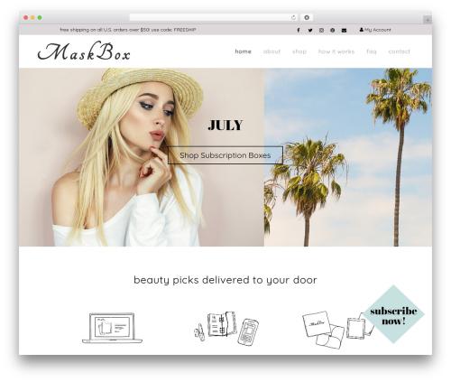 WordPress theme Citrus Theme - maskboxbeauty.com