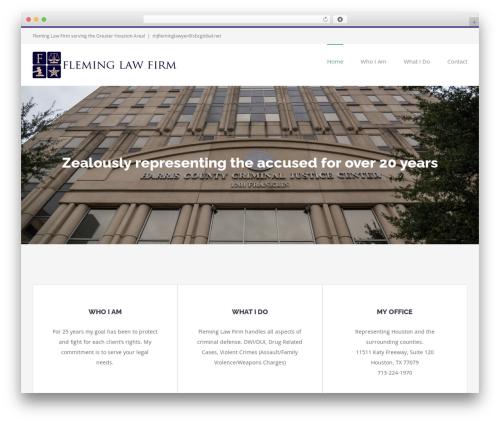 Avada company WordPress theme - fleminglawfirm.net