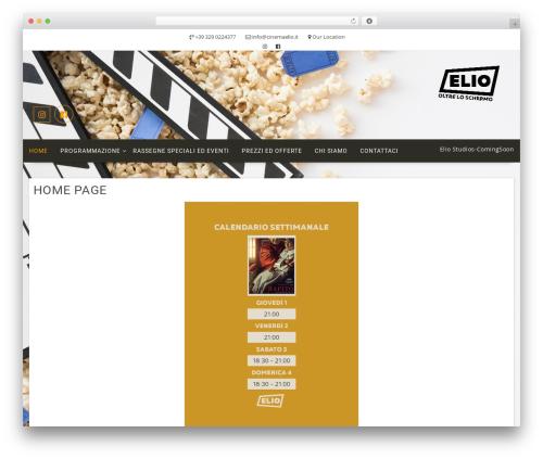 Multicommerce WordPress theme - cinemaelio.it