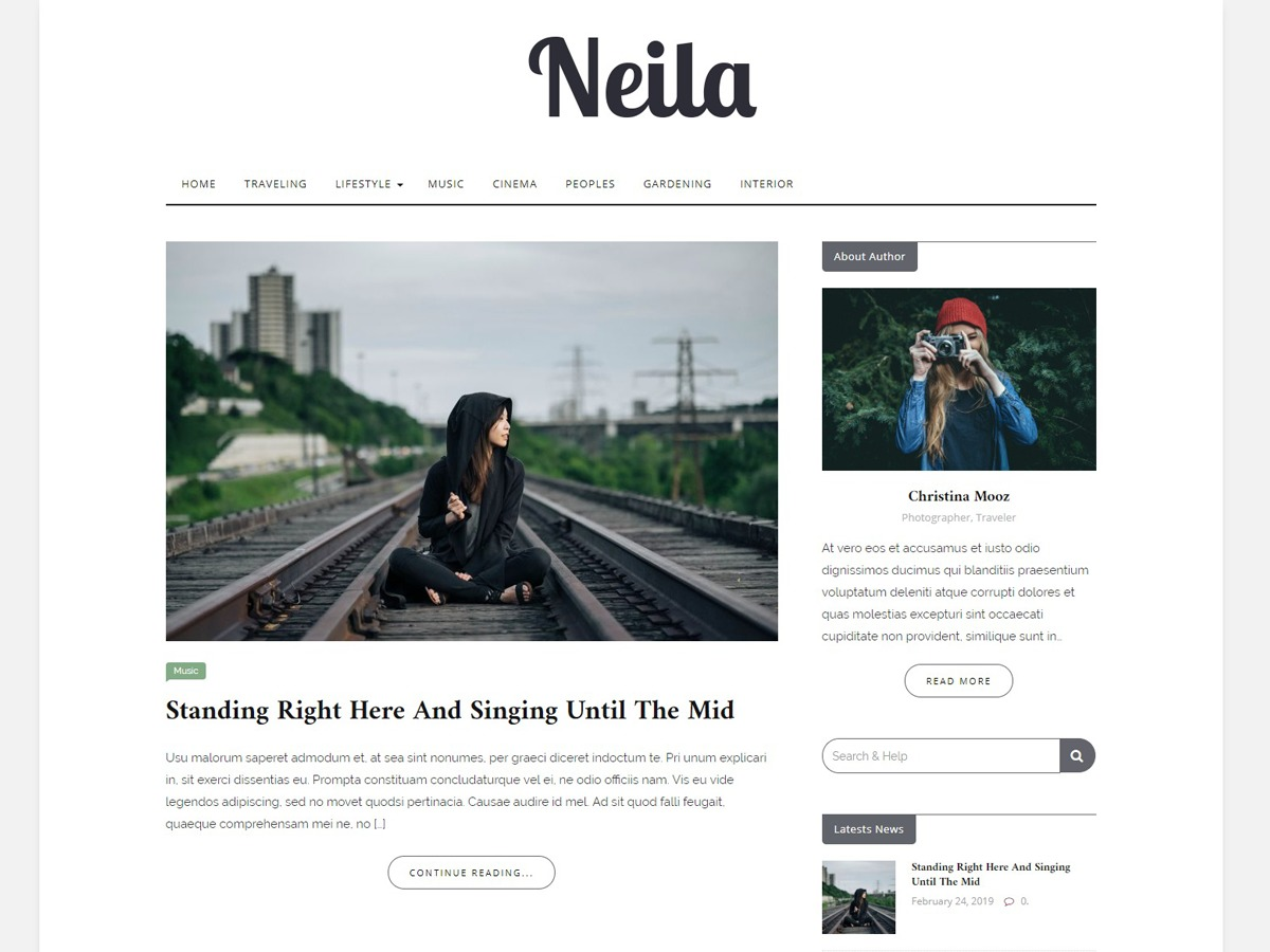Neila WordPress travel theme