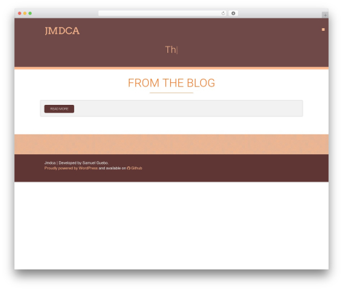 Acajou WordPress theme - jmdca.org