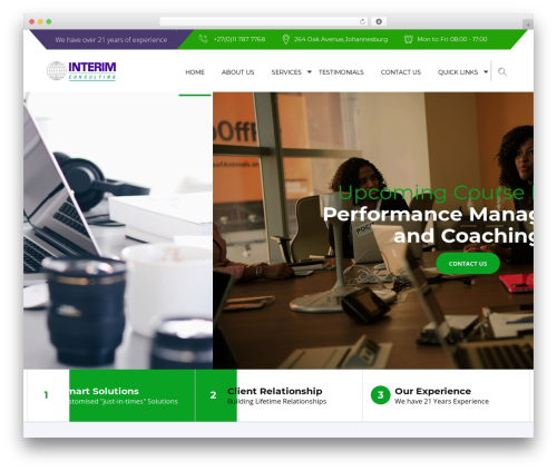 Advisor company WordPress theme - interimconsulting.co.za