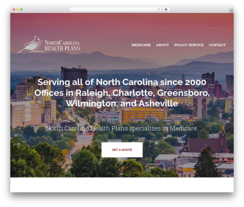 BrightFire Stellar best WordPress theme - northcarolinahealthplans.com