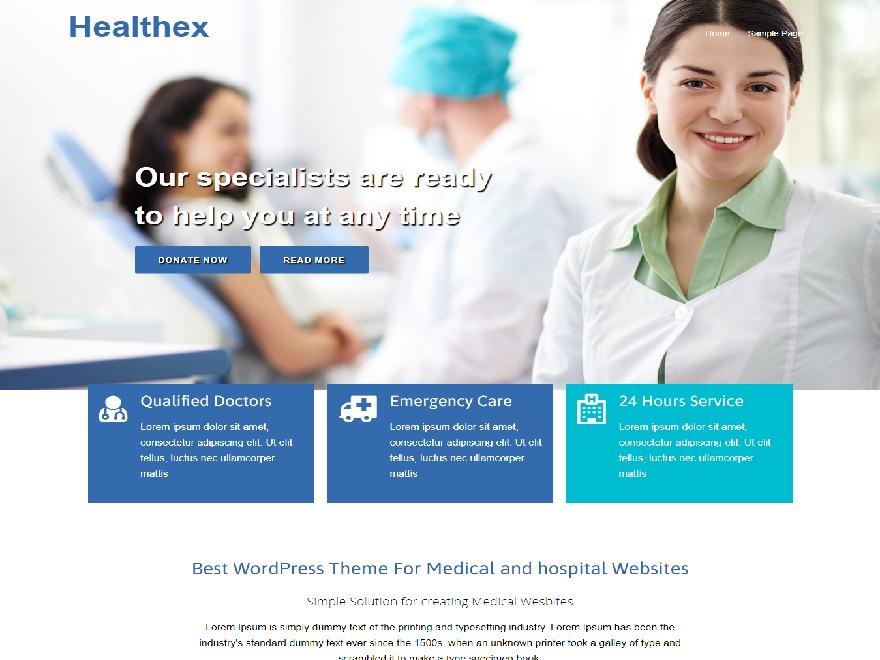 Healthex WordPress blog template