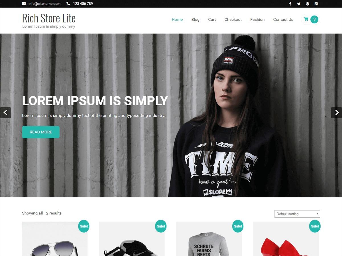 Rich Store Lite WordPress shopping theme