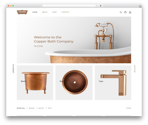 Seese WordPress template for business - thecopperbathcompany.com