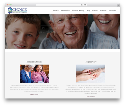 Senior 1.1.2 top WordPress theme - firstchoice-hha.com