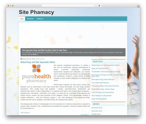TheHealth WordPress theme design - pharmsite.info