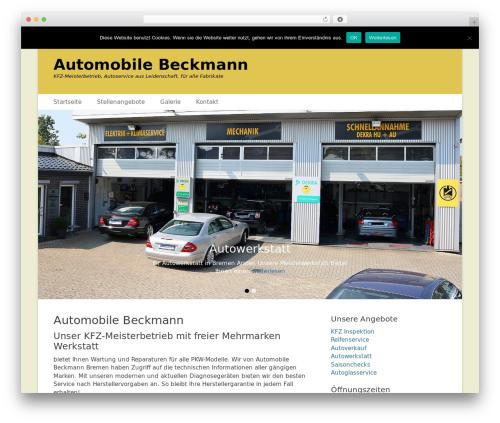 WordPress theme Catch Base Pro - automobilebeckmann.de