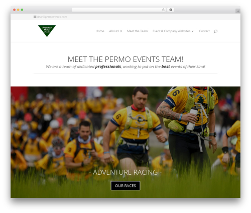 WordPress theme Divi - perpetualmotionevents.com