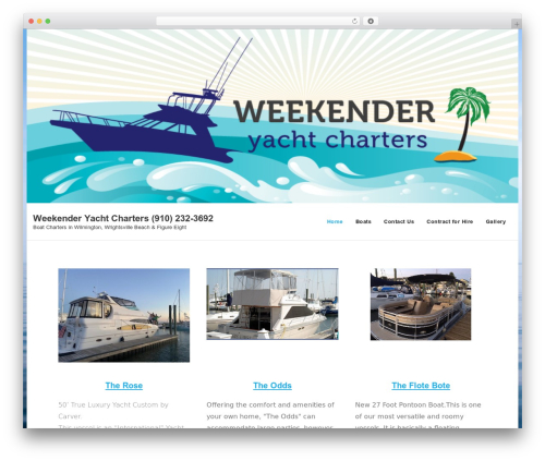WordPress theme Shuttle - weekenderyachtcharters.com