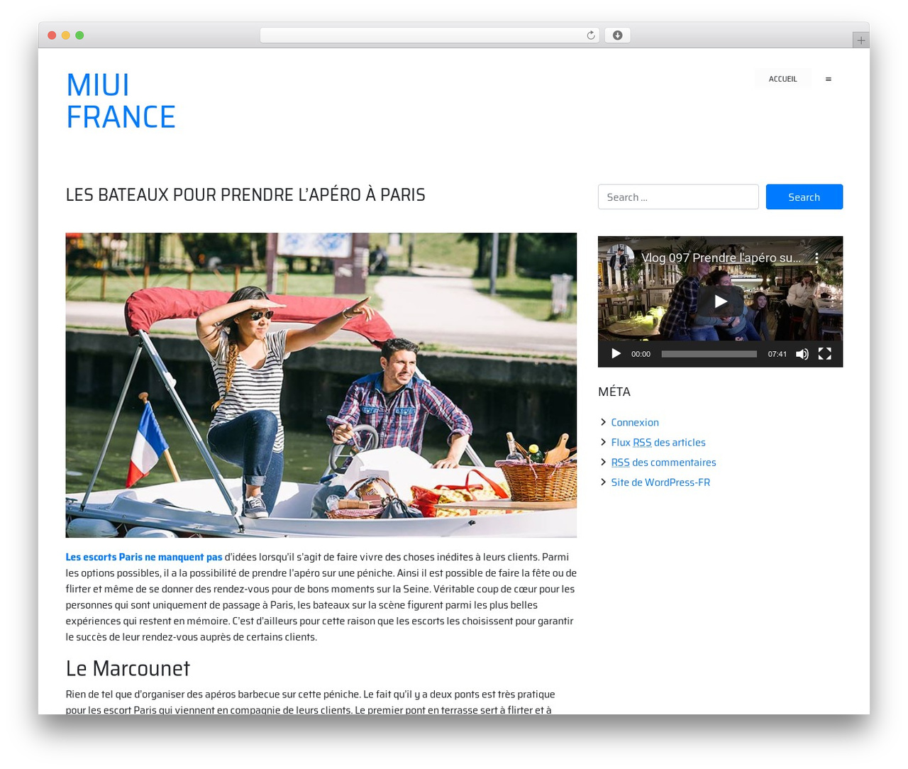 WordPress website template ioBoot - miui-france.fr