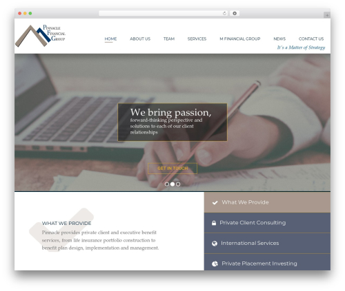 WP template Member Sites - pinnaclefinancialconsultants.com