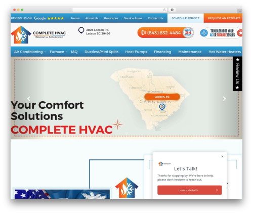 Complete HVAC WordPress theme design - completersinc.com