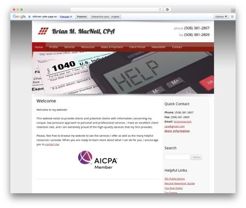 Customized WordPress theme design - bmaccpa.com