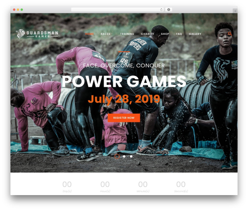FitPress theme WordPress - guardsmangames.com