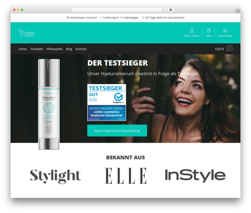 Shoptimizer best WooCommerce theme - colibri-cosmetics.com