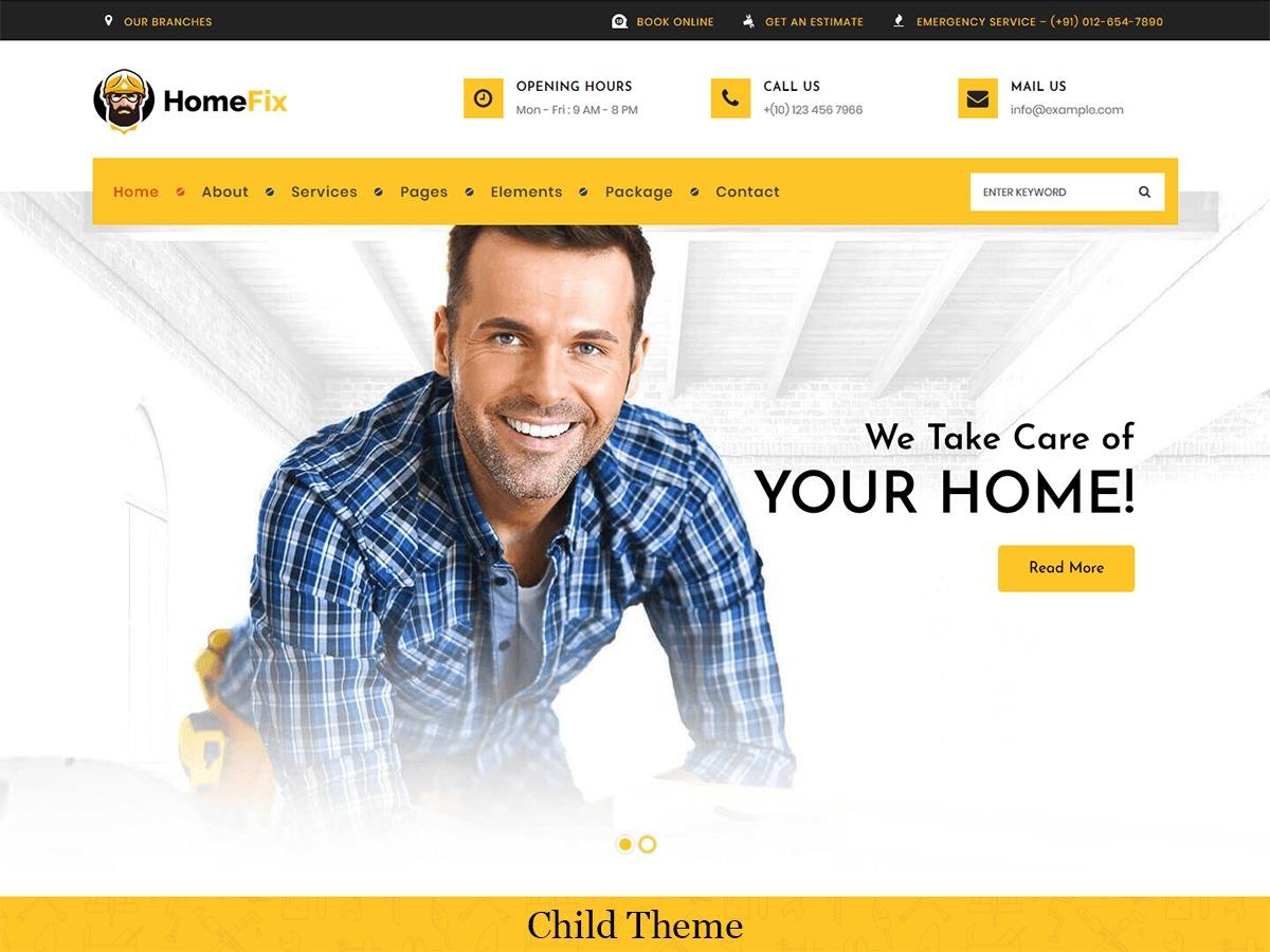 Template WordPress HomeFix Child