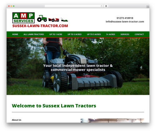 Avada WP theme - sussex-lawn-tractor.com