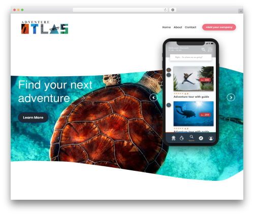 Best WordPress template AppStorm - adventureatlas.org
