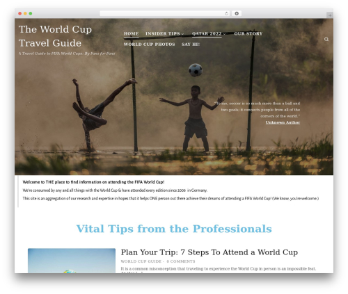 Customizr best free WordPress theme - theworldcupguide.com