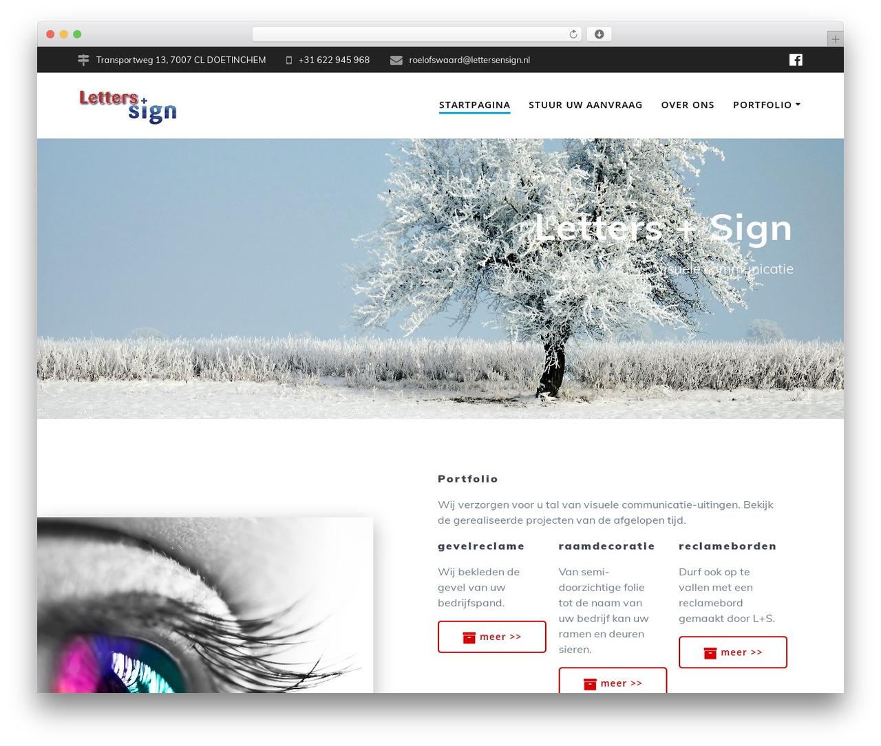 Mesmerize PRO best WordPress template - lettersensign.nl