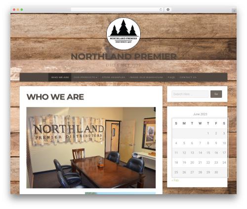 Natural Lite best free WordPress theme - northlandpremier.com