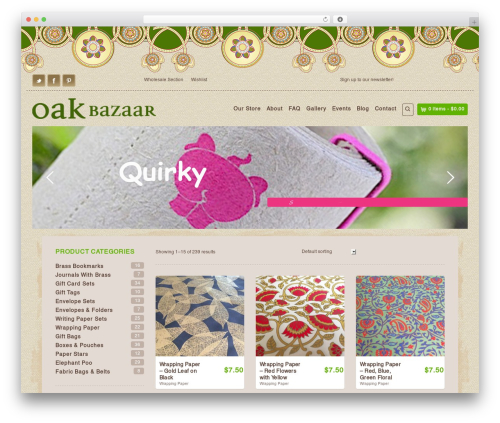 Organic Web Shop top WordPress theme - oakbazaar.com