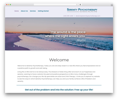 Playful theme WordPress - serenitypsychotherapy.com