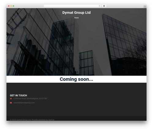 Sydney WordPress template free - dymatgroup.com