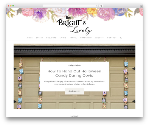 WordPress template Hallie - Premium - thebrightandlovely.com
