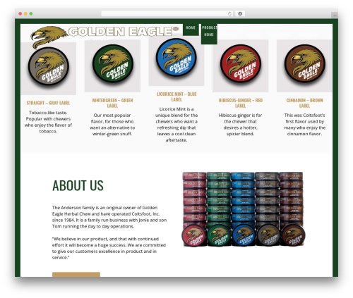 WordPress theme Revolver - goldeneaglechew.com