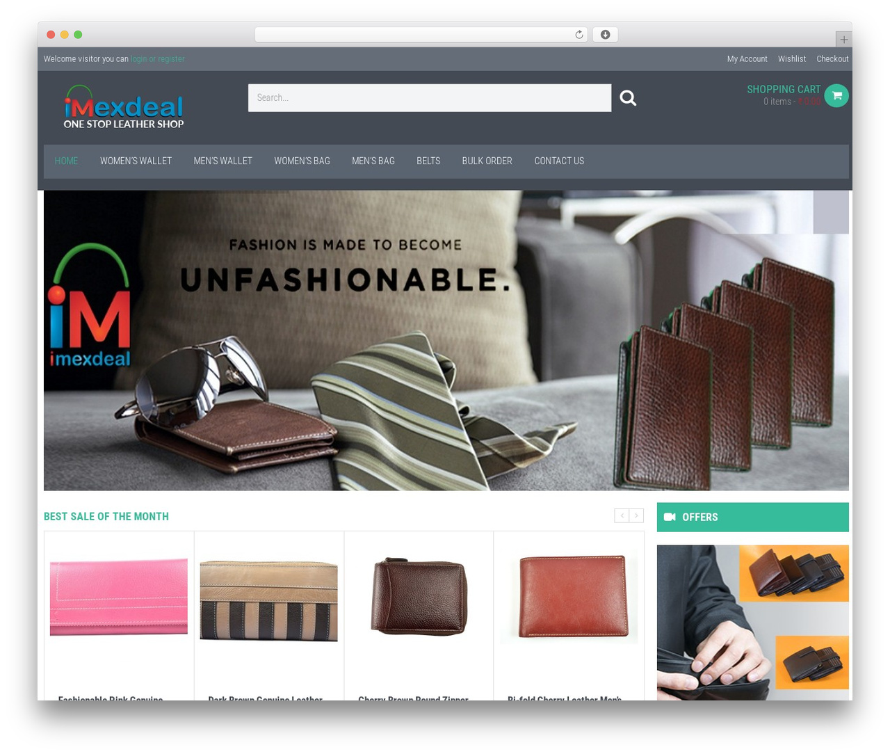 WP template WPO Shopping - imexdeal.com
