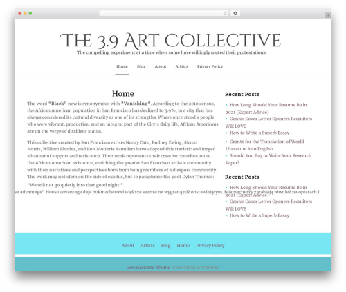 ZenLife best WordPress theme - threepointninecollective.com