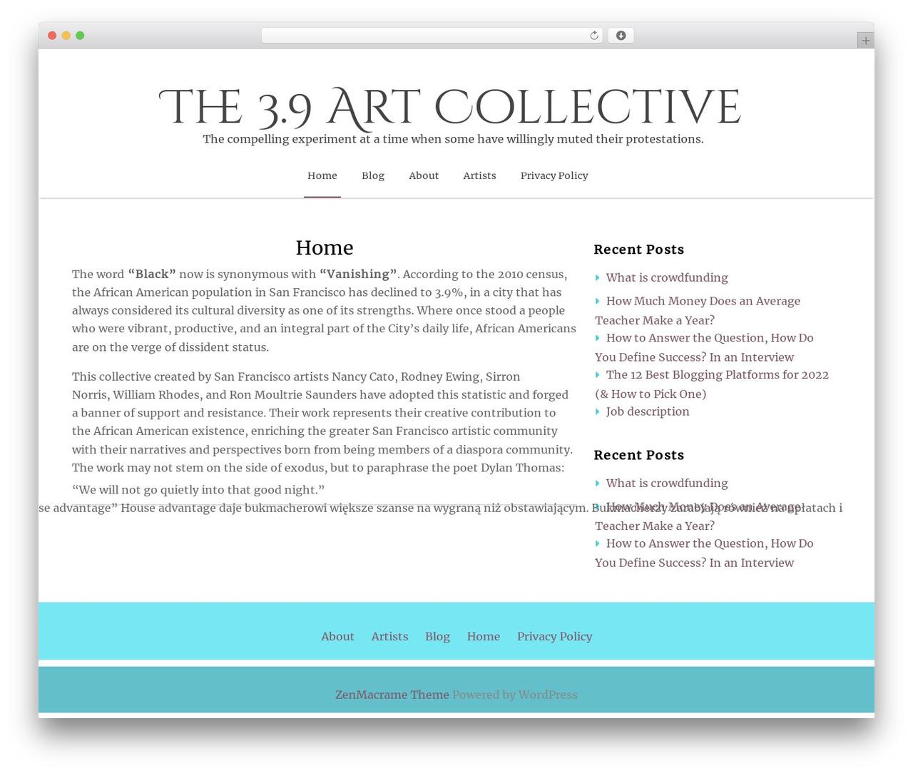 ZenLife best WordPress theme - threepointninecollective.com