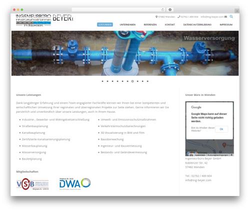 Conica WordPress theme design - ing-beyer.com